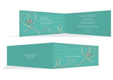 Hochzeit Einladung erfüllte Liebe