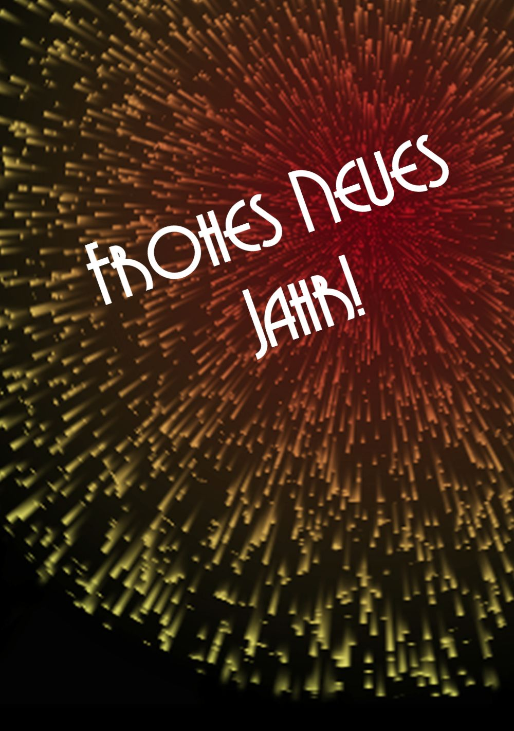 Ansicht 4 - Neujahrskarte Countdown
