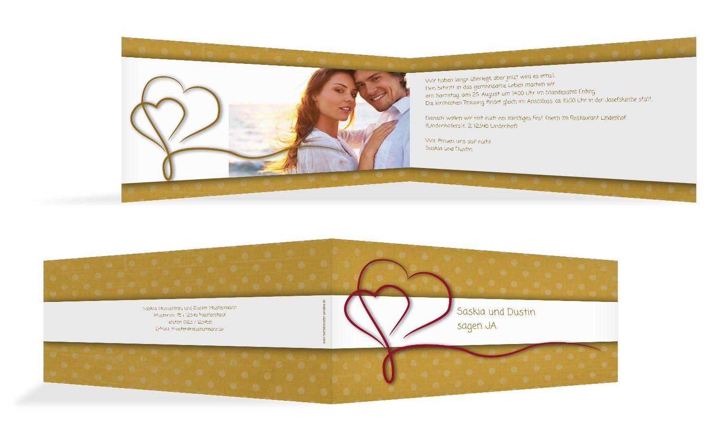 Hochzeit Einladung Gepunktet