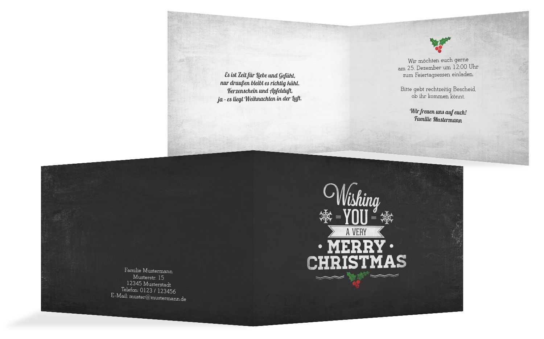 Einladung Merry Christmas