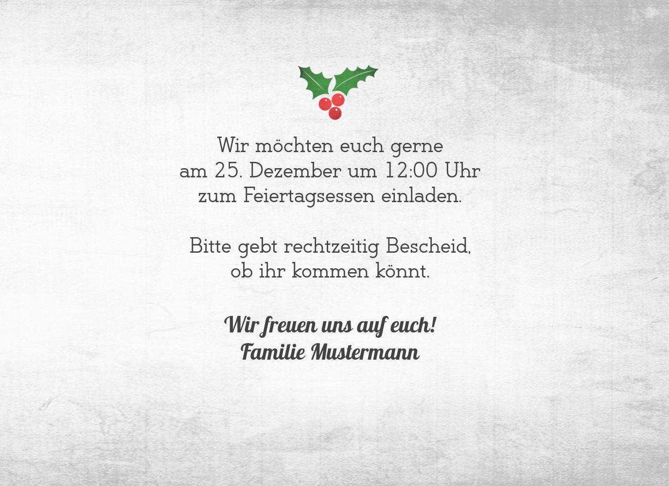 Ansicht 5 - Einladung Merry Christmas