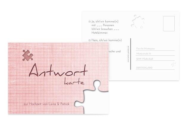 Hochzeit Antwortkarte Puzzle