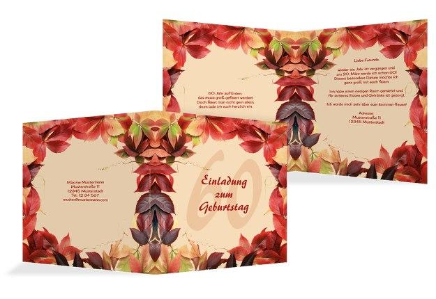 Einladungskarte Blumentraum 60