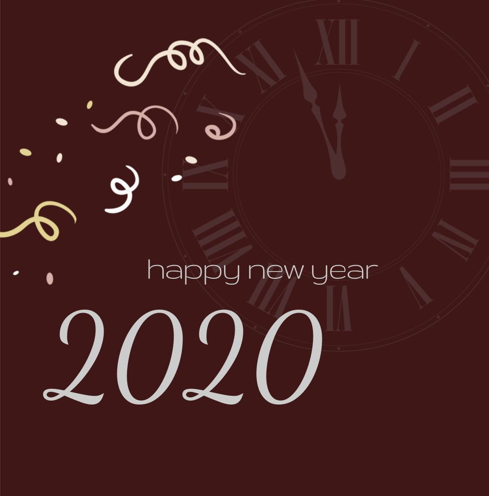 Ansicht 3 - Neujahrskarte kurz vor 12