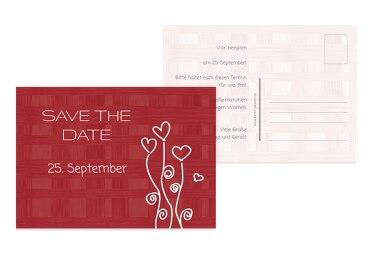 Hochzeit Save the Date Liebestraum