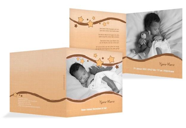 Babykarte Sternenwelle