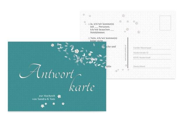 Hochzeit Antwortkarte romantic flower
