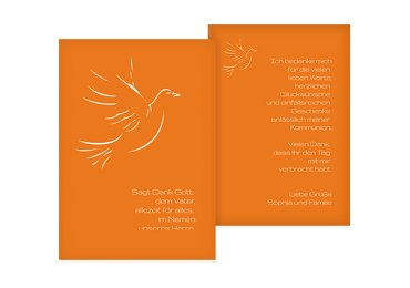 Kommunion Dankeskarte Pigeon
