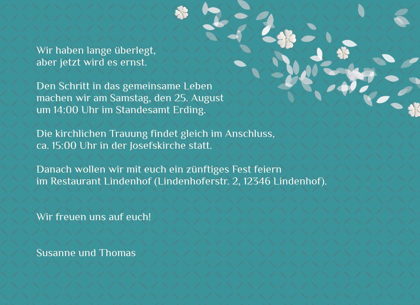 Ansicht 5 - Hochzeit Einladung romantic flower