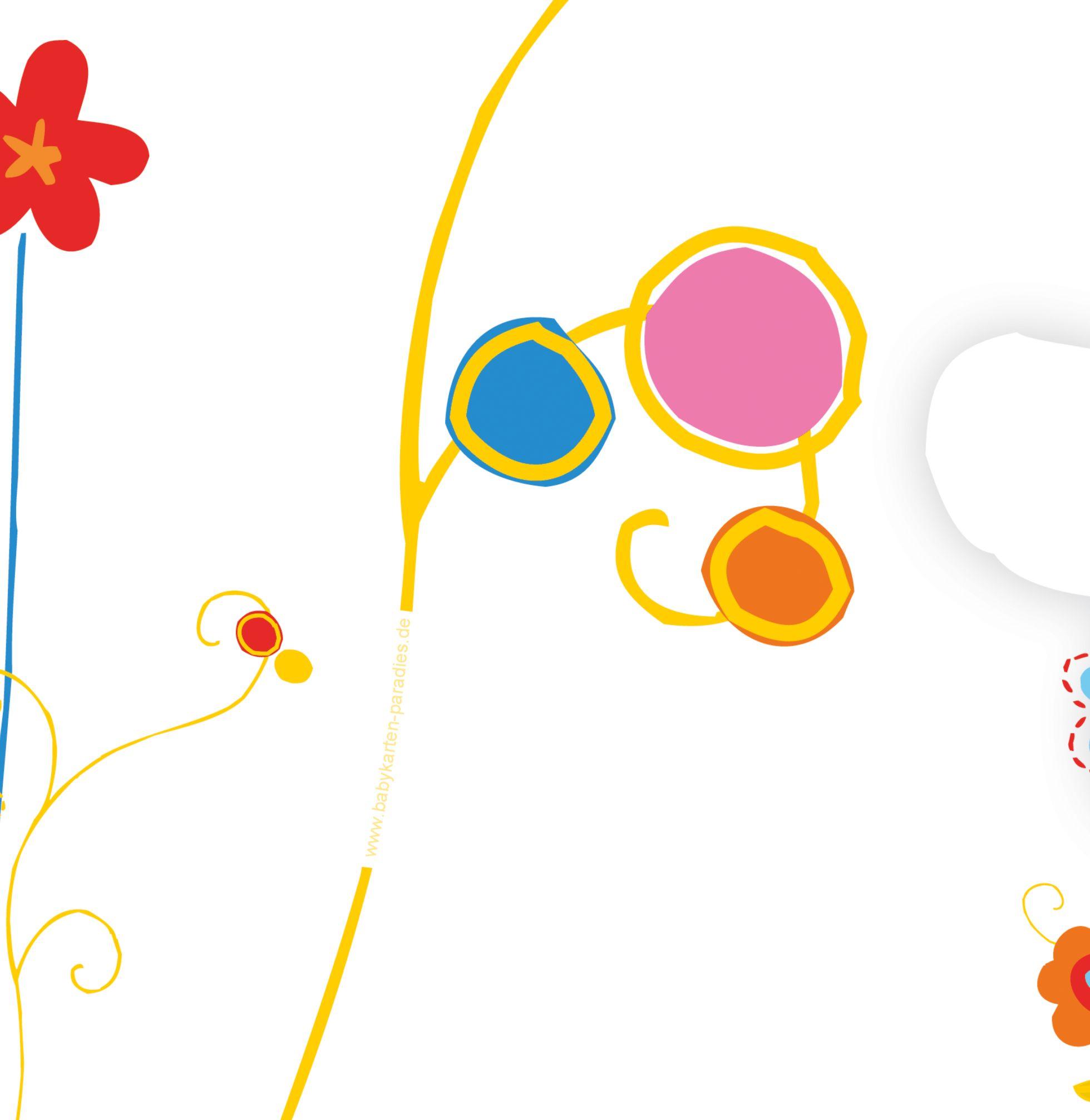 Ansicht 3 - Babykarte Zauberblumen