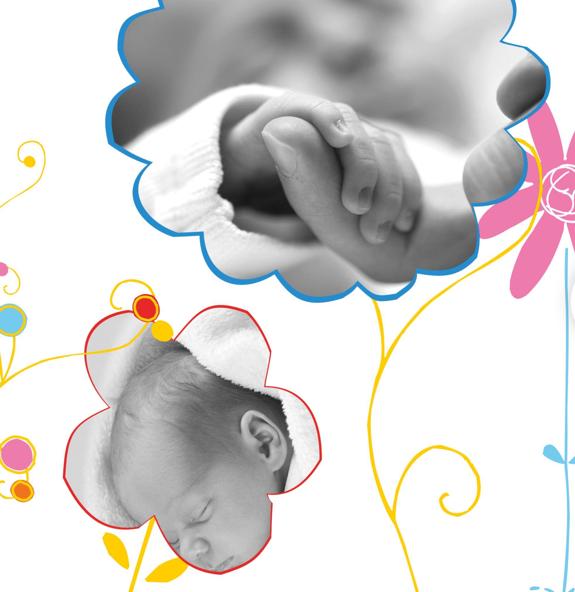 Ansicht 6 - Babykarte Zauberblumen