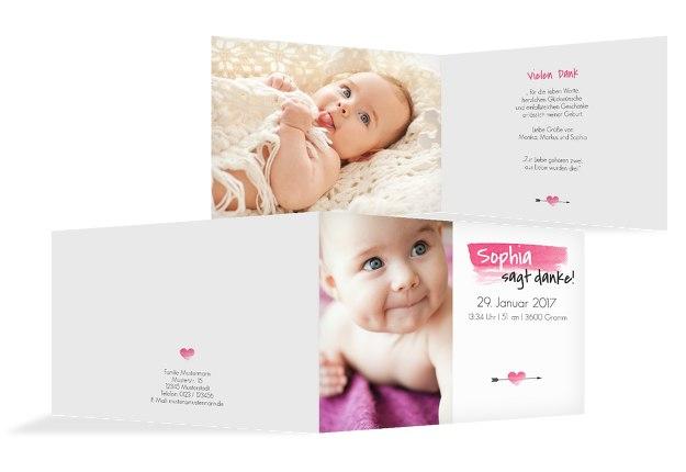 Baby Dankeskarte Aquarell
