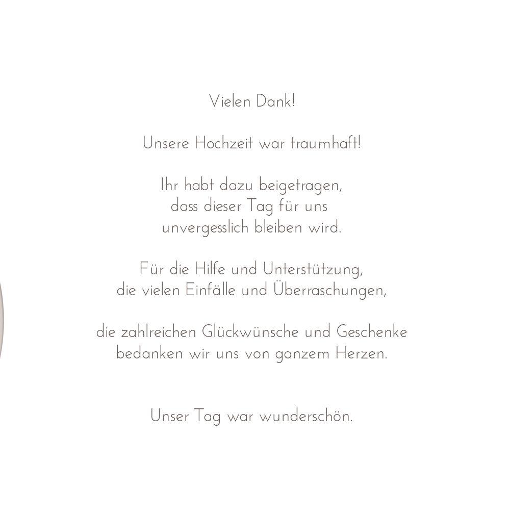 Ansicht 5 - Hochzeit Dankeskarte Doppelherz