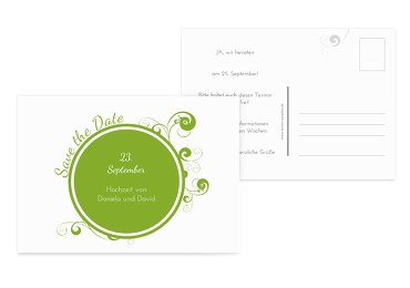 Hochzeit Save-the-Date squiggle chubby