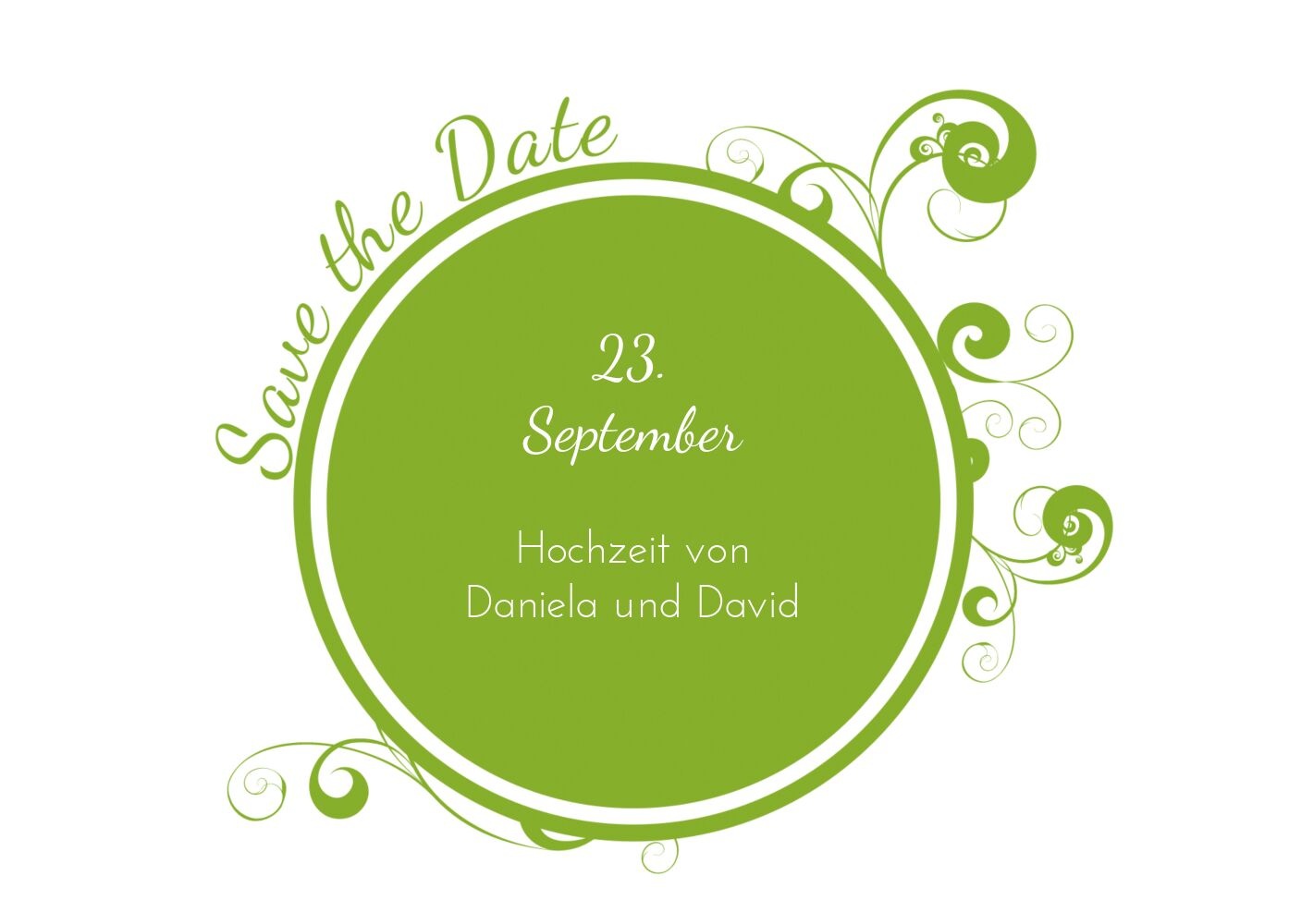 Ansicht 2 - Hochzeit Save-the-Date squiggle chubby