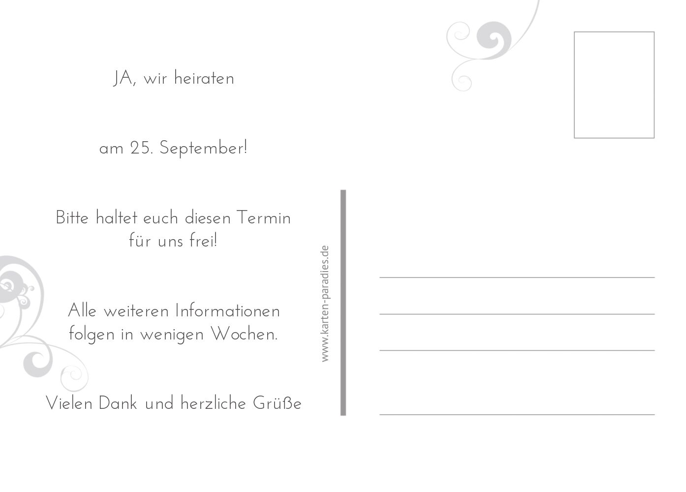 Ansicht 3 - Hochzeit Save-the-Date squiggle chubby