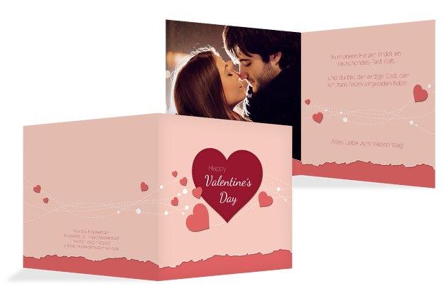 Valentinskarte Herzenswünsche