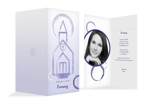 Firmung Einladungskarte Kirche