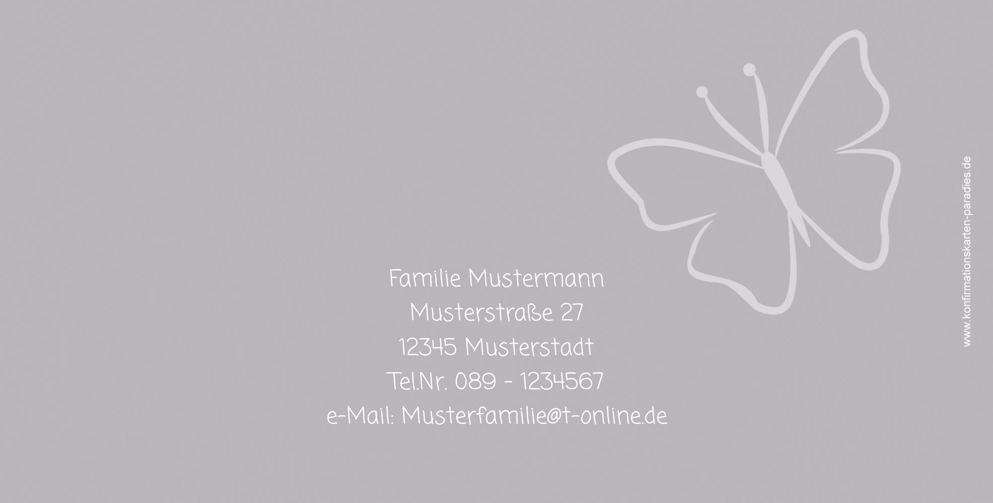 Ansicht 3 - Konfirmation Einladung Butterfly 2