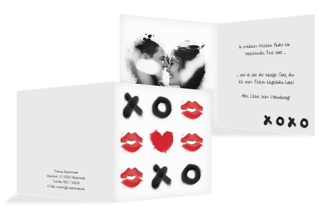 Valentinskarte xoxo