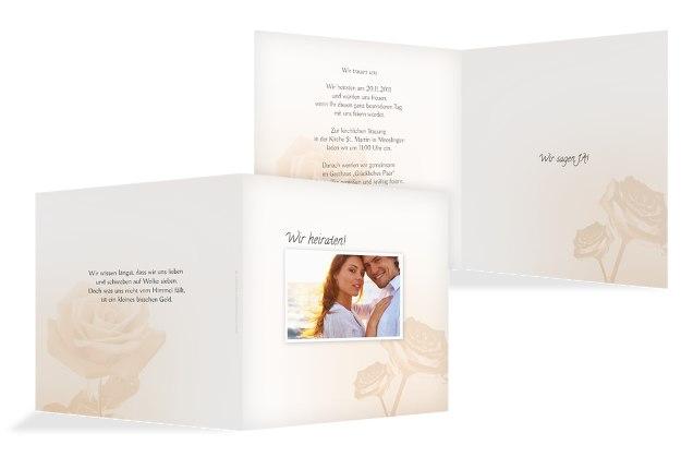Hochzeit Einladung Rose