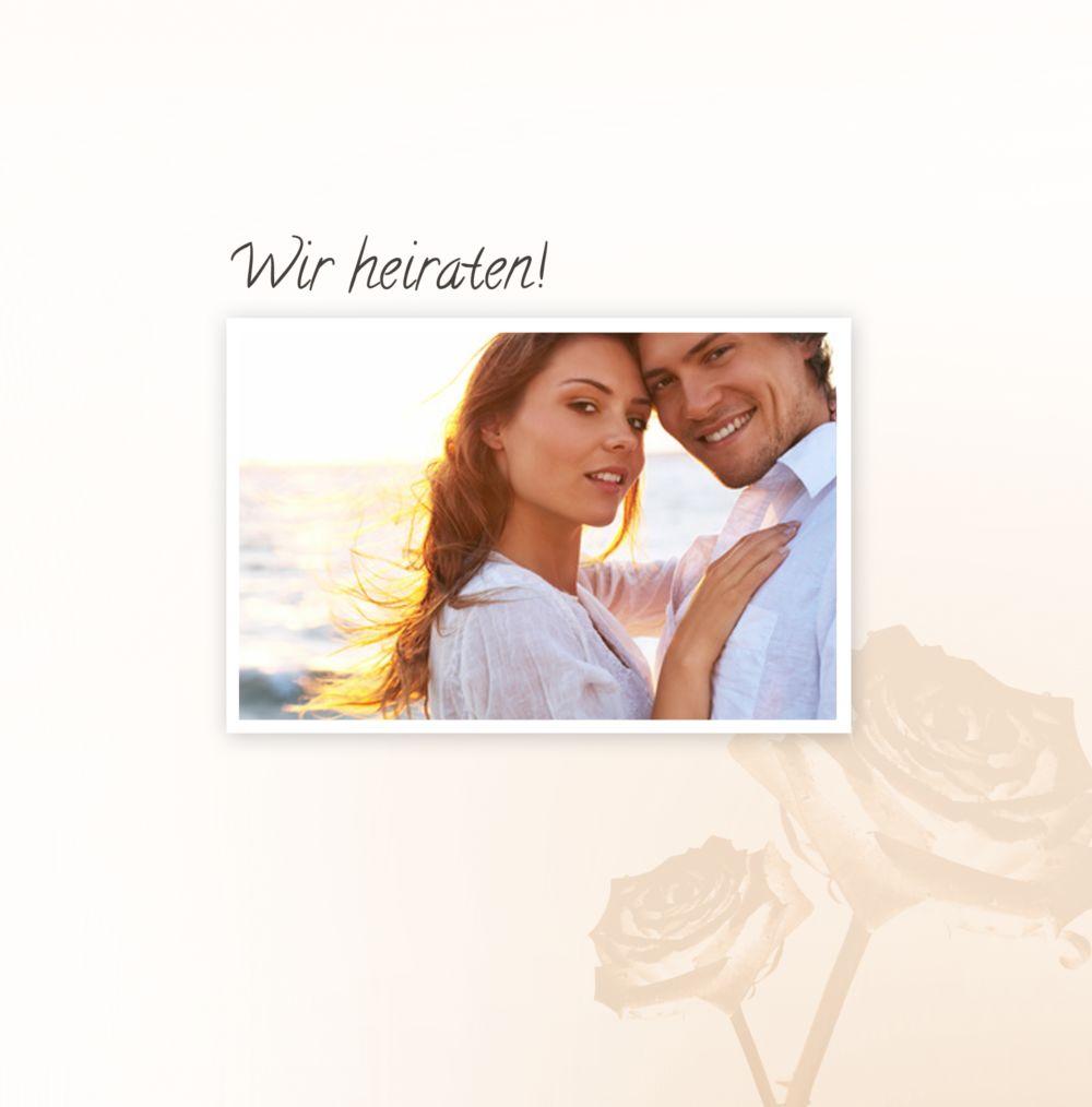 Ansicht 3 - Hochzeit Einladung Rose