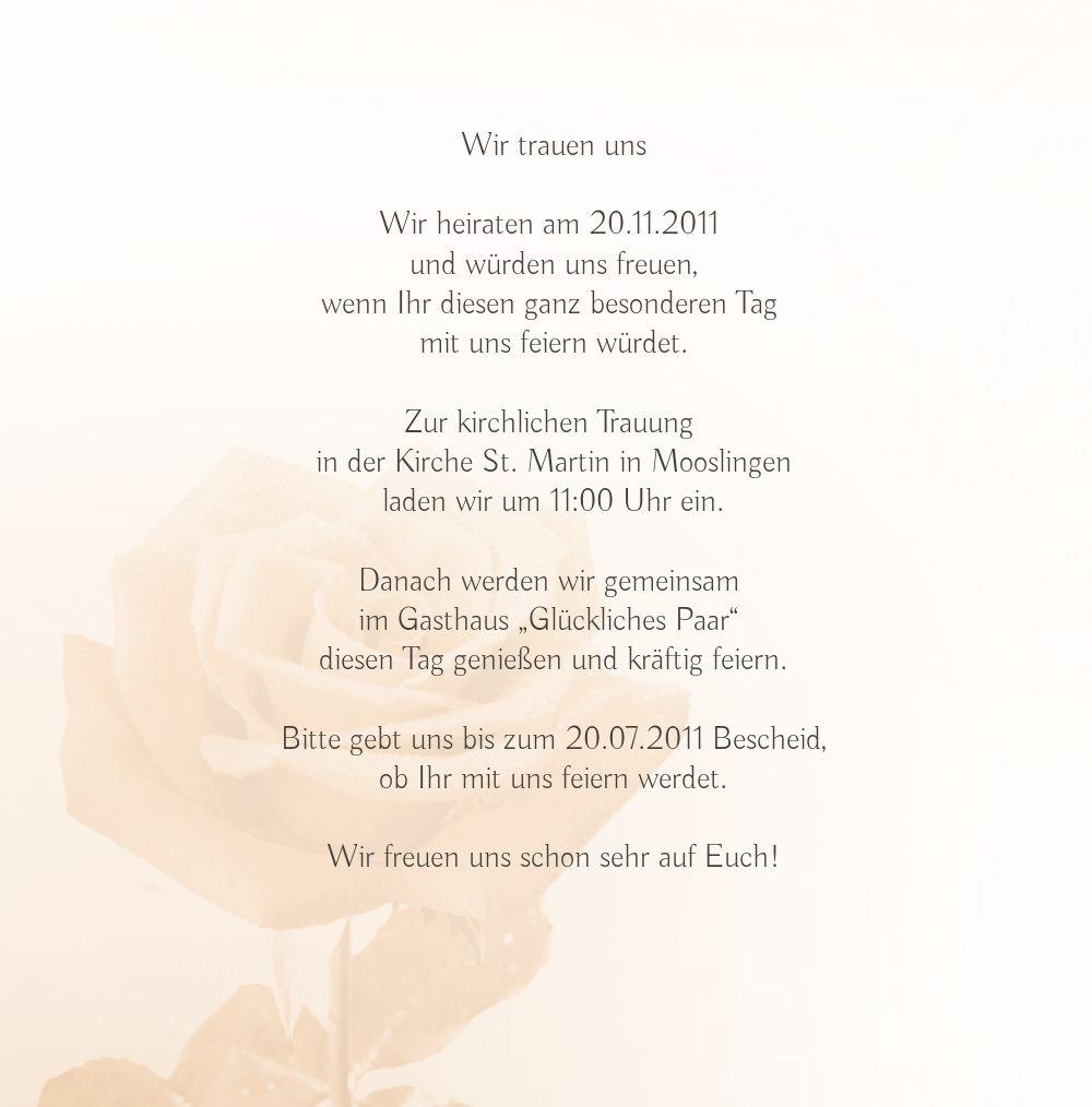 Ansicht 4 - Hochzeit Einladung Rose