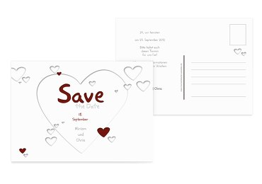 Save-the-Date Herzform