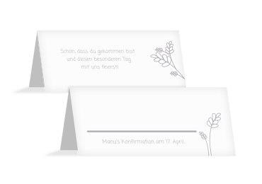 Tischkarte zur Konfirmation Gräser