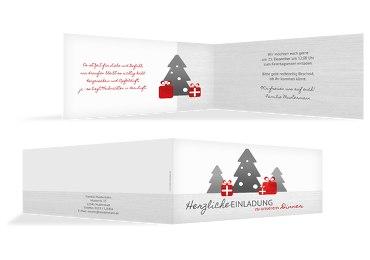 Weihnachtseinladung Geschenkebaum