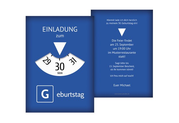 Einladungskarten gestalten 30 geburtstag