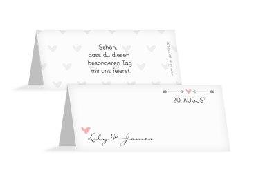 Hochzeit Tischkarte Pärchen