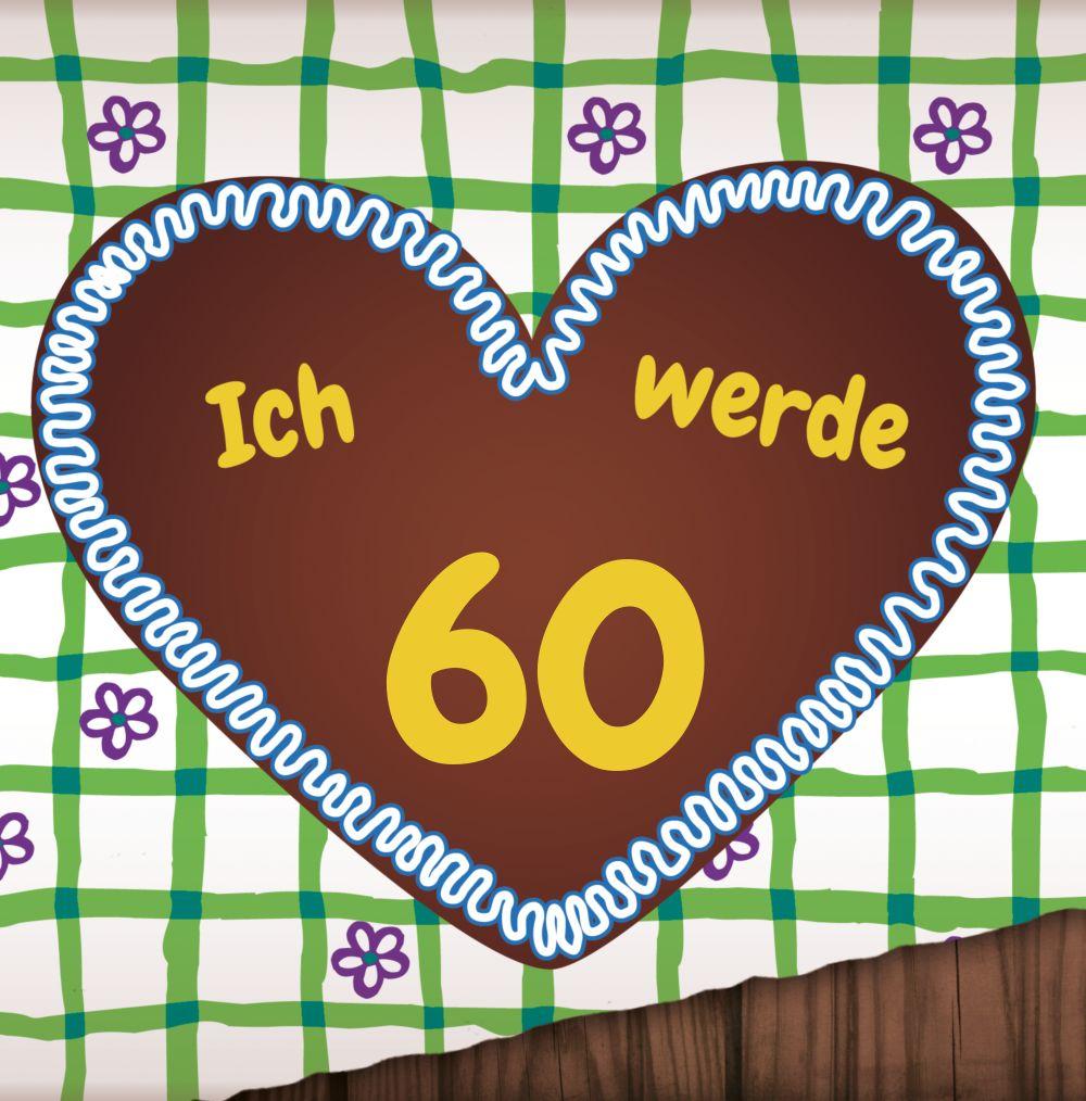 Ansicht 3 - Einladung Lebkuchenherz 60 Foto