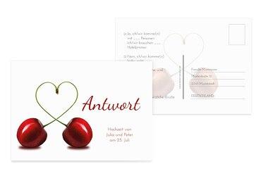 Hochzeit Antwortkarte Kirsche