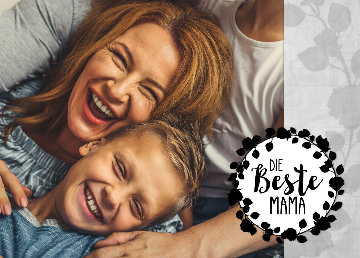 Ansicht 2 - Fotospruchkarte Beste Mama