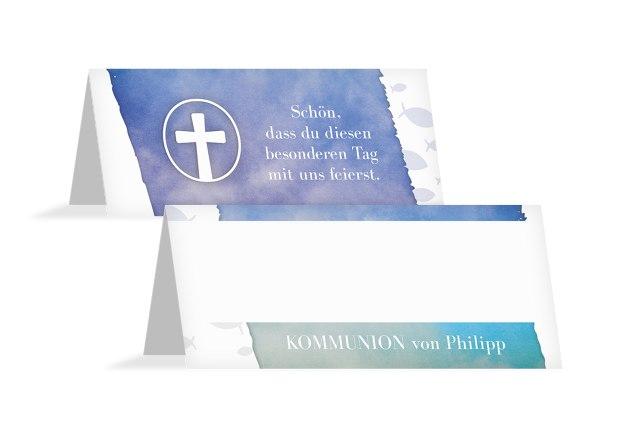Kommunion Tischkarte Himmelreich