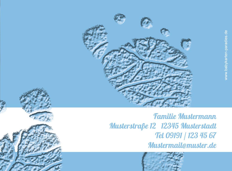 Ansicht 3 - Taufekarte Footprints