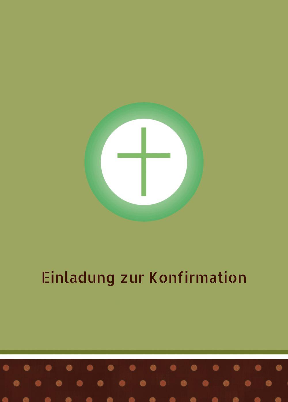 Ansicht 2 - Konfirmation Einladungskarte Kreuzhostie