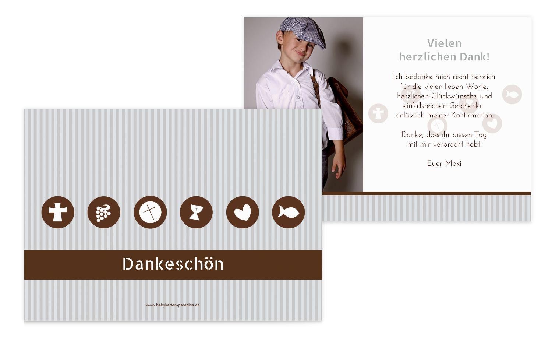 Konfirmation Danke stripes-buttons