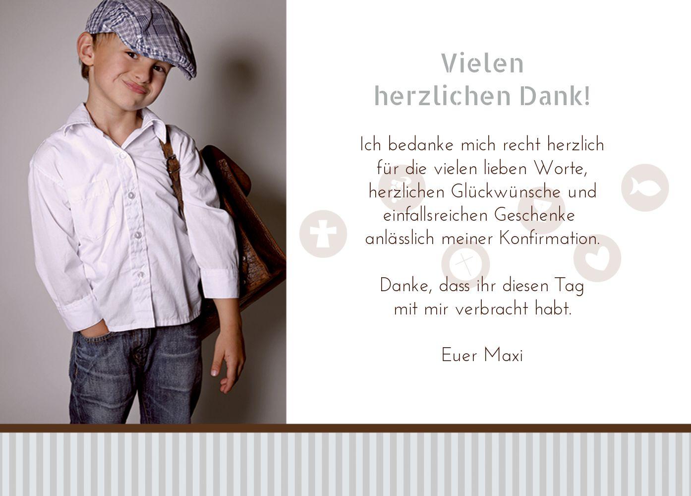 Ansicht 3 - Konfirmation Danke stripes-buttons