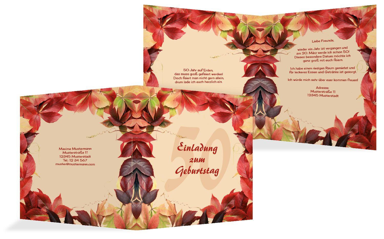 Einladungskarte Blumentraum 50