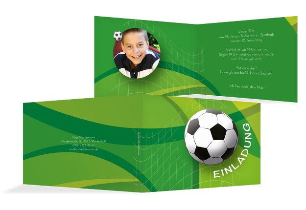 Einladung zum Geburtstag Foto Fußball