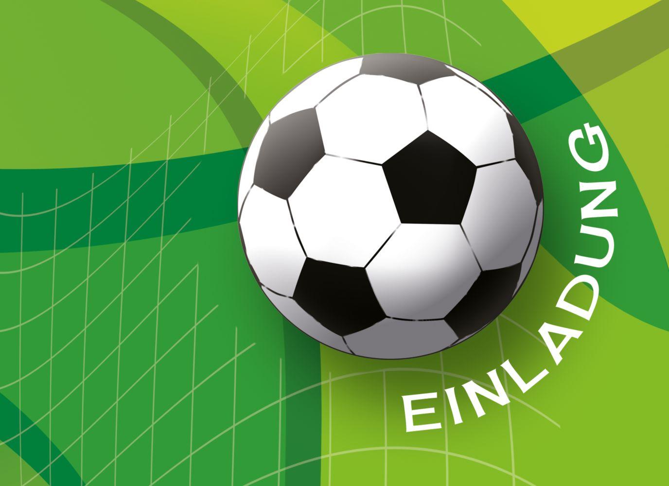 Ansicht 3 - Einladung zum Geburtstag Foto Fußball