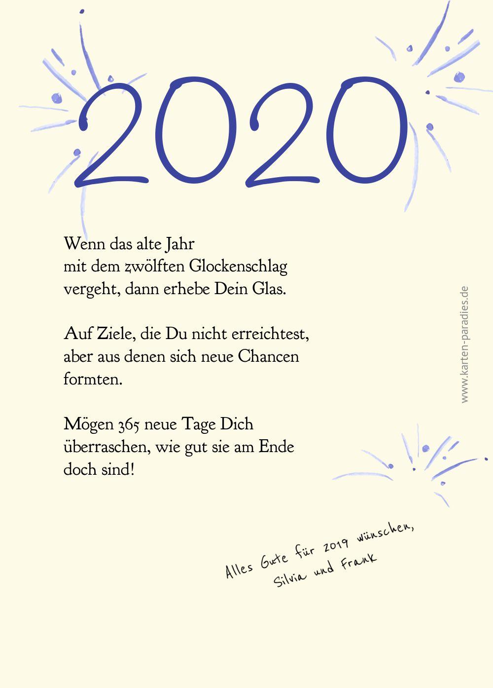 Ansicht 3 - Neujahrskarte Sektanstoß