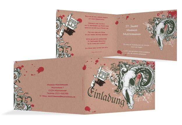 Einladungskarte Tattoo