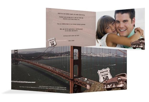 Geburtstagskarte old bridge 50 Foto