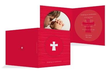 Einladung Konfirmation Wellen Kreuz