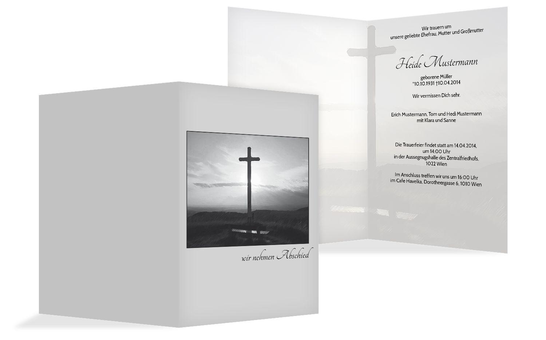 Trauerkarte Kreuz