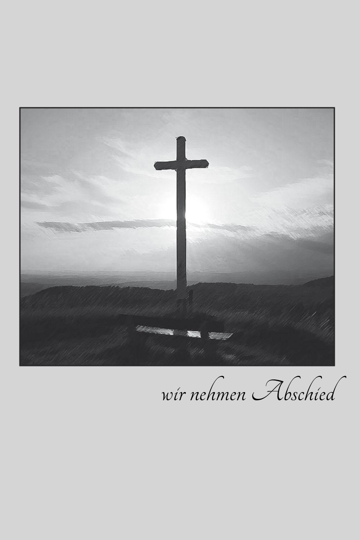 Ansicht 3 - Trauerkarte Kreuz