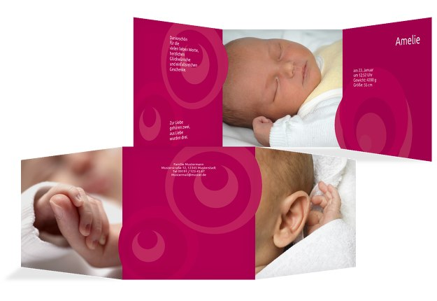 Baby Dankeskarte Kreise